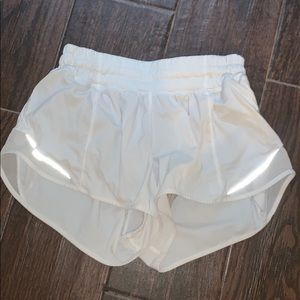 Lulu Lemon shorts - white hotty hot
